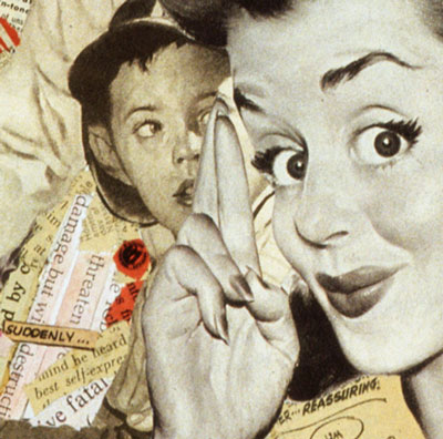 Keep your fingers crossed! Sally Edelstein's cold war collage on American propaganda concerning radioactive dangers