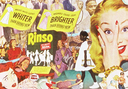 Surrounded by the upheaval of Civil Rights Movement, Mid Century Women were shown troubled by achieving a whiter wash