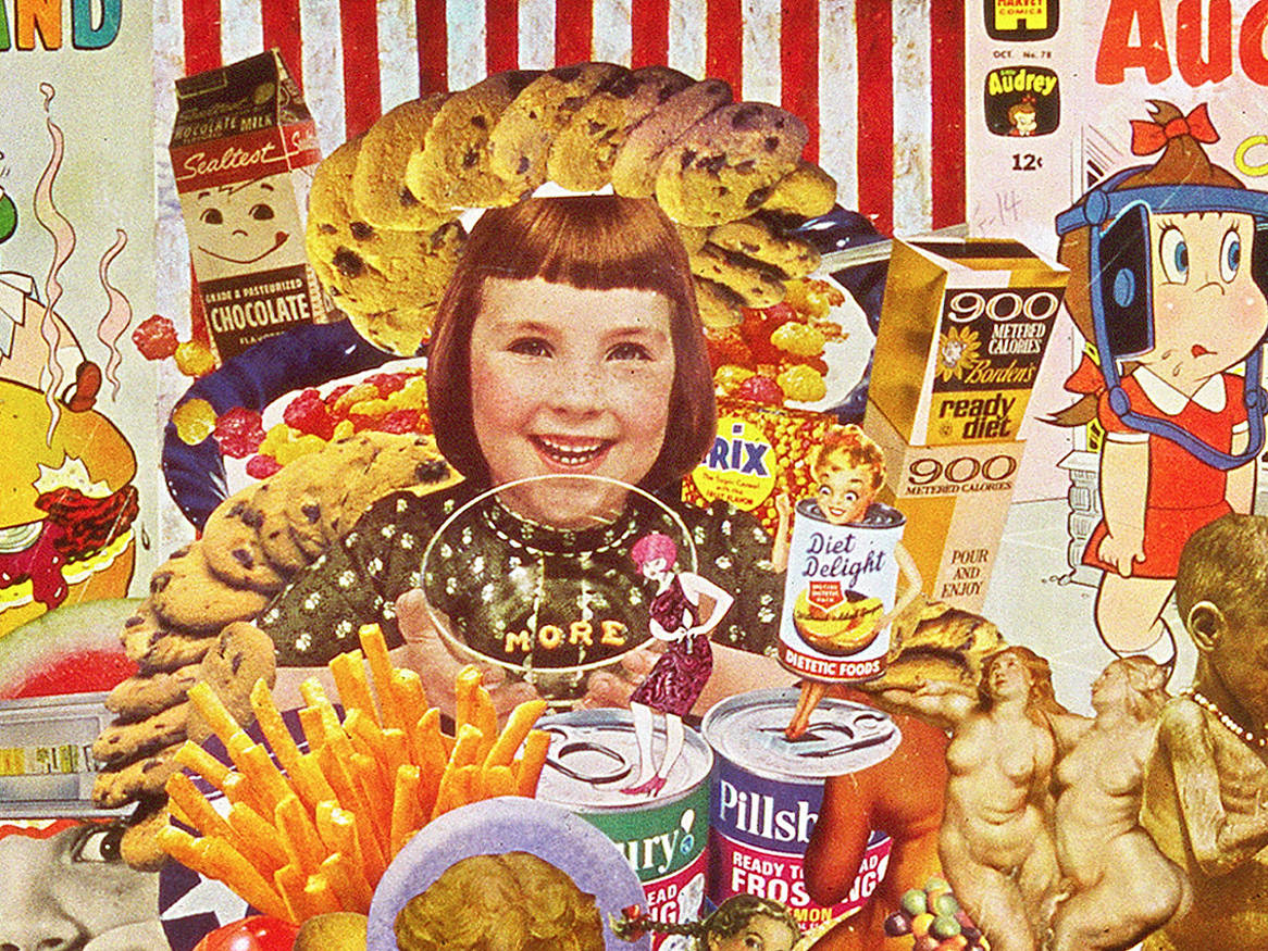 Constant cravings sally edelstein collage defrosting for Art and appetite american painting culture and cuisine